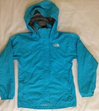 THE NORTH FACE Girls M HyVent Windbreaker Jacket Coat Blue Attached Hood
