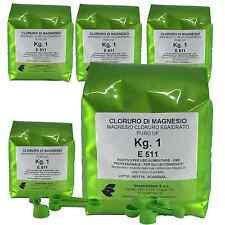 KG. 5 CLORURO DI MAGNESIO IN CONF. DA KG. 1 - E511 ALIMENTARE  USO PROFESSIONALE