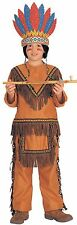Native American Boy Child Costume Boys Indian Brave Warrior Child Size Lg 12-14