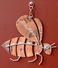 Copper Bumble Bee Insect Wall Hanging Plaque. Kitchen Hand Made Shabby Chic