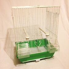 Green Bird Cage, Canary Finch Mule piccoli volatili, PET Display Carry spray di formazione