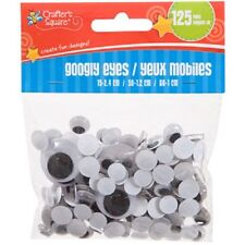 Assorted Crafter's Square Plastic Googly Eyes, 125-ct. Packs US Seller Free Ship