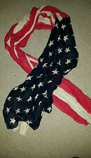 Ralph Lauren Denim & Supply American Flag Scarf Gauze Linen NWT