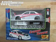 MAISTO 1:24 MODEL KIT  2002 SUBARU IMPREZA WRX  DIE-CAST WHITE 39222