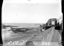 Saint-Malo Bretagne Remparts - ancien négatif verre photo - an. 1910 1920