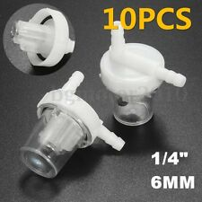 10x 1/4'' 6mm Motorcycle Inline Gas Petrol Fuel Filter Cleaner Pit Dirt Bike ATV
