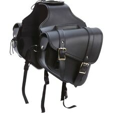 """SOLO STYLE 10""""W  Black MOTORCYCLE SADDLEBAGS For Honda Rebel Shadow Goldw & MORE"""