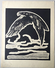 GRAVURE ART DECO Aigle royal eagle de PAUL JOUVE