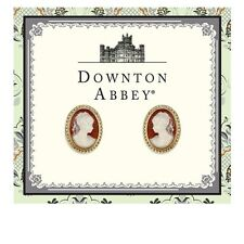 Downton Abbey Gold Tone Cameo Stud Earrings 17690 Free Shipping