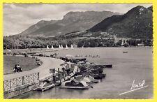cpsm 74 - ANNECY (Haute Savoie) Le LAC et le PAQUIER Location de BATEAU PÉDALOS