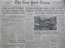 HITLER NEW POWER - R.A.F. ROSTOCK JERSEY TRAIN CRASH TIMES 4-1942 WWII April 27