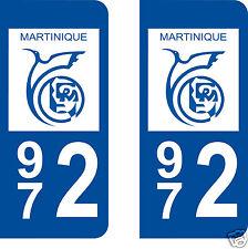 aufkleber nummernschilder auto Abteilung Martinique 972