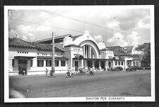 Djakarta Jakarta rppc Post Office Cars People Indonesia 50s