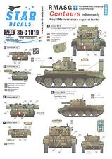 Star Decals 1/35 ROYAL MARINES ARMOURED SUPPORT GROUP CENTAUR TANKS IN NORMANDY