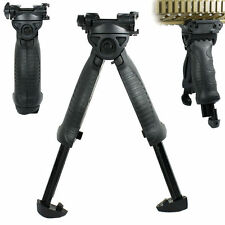 Tactical 40 Degree Swivel Foldable Foregrip Rifle Bipod 20mm Rail Mount - QR
