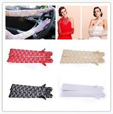 Women Long Elbow Wrist Full Finger Lace Gloves Wedding Evening Party 3 Sizes GL2