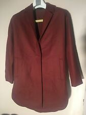 "ALL SAINTS WOMEN'S TERRACOTTA RUST RED ""VINE"" WARM COAT JACKET - UK10 - NEW £298"