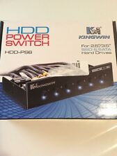 Kingwin HDD Power Switch Module 6 Switches for 5.25-Inch Bay HDD-PS6