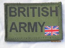 BRITISH ARMY & Union Jack 50x72mm, oliv,Klettrückseite,Armabzeichen,Patch