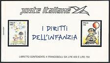 1991 Poste Italiane/UNICEF Libretto i Diritti Infanzia 2 Strip da 4 Francobolli