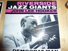 """RIVERSIDE JAZZ GIANTS JOHN LEE HOOKER""""DEMOCRAT MAN"""" VINYL 7"""" EP REP 3207"""