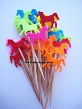 24 Bright Horse Party Picks - Cupcake Toppers - Toothpicks - Food Picks - FP152