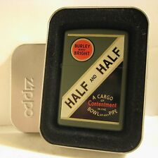1999 FULL SIZE ZIPPO HALF & HALF PIPE TOBACCO VINTAGE PACK DESIGN MINT IN TIN