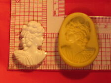 Woman Cameo Silicone Push Mold A802 For Fondant Chocolate Resin Clay Candy Soap