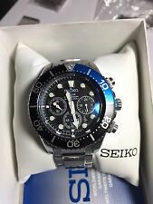 Seiko SSC017 Solar Diver DD Sapphire Crystal & Extra shark Mesh Band