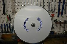 Vintage Campagnolo Khamsin Disc Wheel  w/ NOS Complete Track Axle Conversion Kit