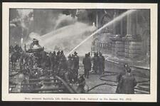 1912 POSTCARD NEW YORK CITY EQUITABLE LIFE BUILDING FIRE DISASTER #2 VIEW