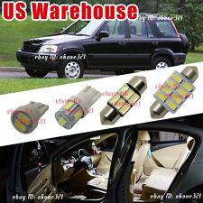 8-pc Pure White LED Lights Interior Package Inside Dome Kit For 97-01 Honda CR-V