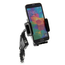 2in1 Dual USB Car Charger &  Holder for Apple iPhone 4/4s/5/5c/5s/6/6 Plus