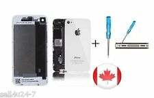 BRAND New Back Battery Housing Cover Glass Replacement for iPhone 4G 4 - WHITE
