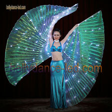 USA! Led isis wings rechargeable belly dance dancer show 126 lights white