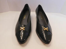 SELBY LADIES GRAY LEATHER PUMPS HEELS  SIZE 9.5 B