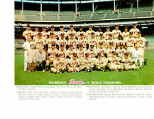 1957 MILWAUKEE BRAVES WORLD SERIES CHAMPIONS TEAM 8X10  PHOTO AARON  BASEBALL