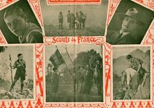 SCOUT DE FRANCE FOREST COZE PROMESSE SECOURISME FANION IMAGE 1928 OLD PRINT