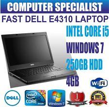 "FAST DELL E4310 LAPTOP 13.3"" INTEL CORE i5 4GB RAM 250GB HDD WINDOWS 7 WEBCAM"