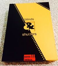 BLINDS AND SHUTTERS-MICHAEL COOPER-GENESIS PUBLICATIONS- 1990 1st-Signed by 10