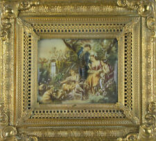 YOUNG PEOPLE IN THE RIVER. MINIATURE. NICE FRAMEWORK. 19TH - 20TH CENTURY