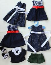 """Springfield American Girl Outfits Clothing 18"""" Doll Dresses Skirt Sweater Shoes"""