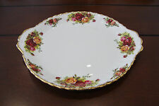 Royal Albert Bone China England Old Country Roses Cake/Pastry Plate Gold Trim