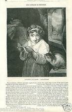 the Mousetrap la Souricière by Sir Joshua Reynolds Painter UK GRAVURE PRINT 1870