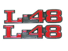 1973-1979 CHEVY CORVETTE L-48 HOOD EMBLEMS -NEW - PAIR AS PICTURED