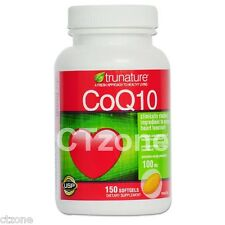 150 Trunature CoQ10 100mg Coenzyme Q-10 Heart Antioxidant 150 Softgels SHIP FAST