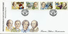 Brit Indian Ocean Terr BIOT 2016 FDC Famous Authors 4v Cover Shakespeare Stamps