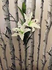 80cm Lily Spray Artificial Silk Fake Home Vase Flowers Wedding Lilies Cemetery