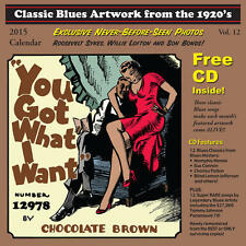 Classic Blues Artwork From The 1920s 2015 CALENDAR + CD NEW SEALED Tommy Johnson