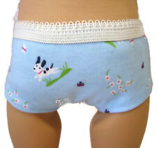"Blue Puppy Low Cut Underwear for 18"" American Girl Doll Clothes Undies"